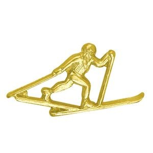 Cross Country Skiing Chenille Lapel Pin